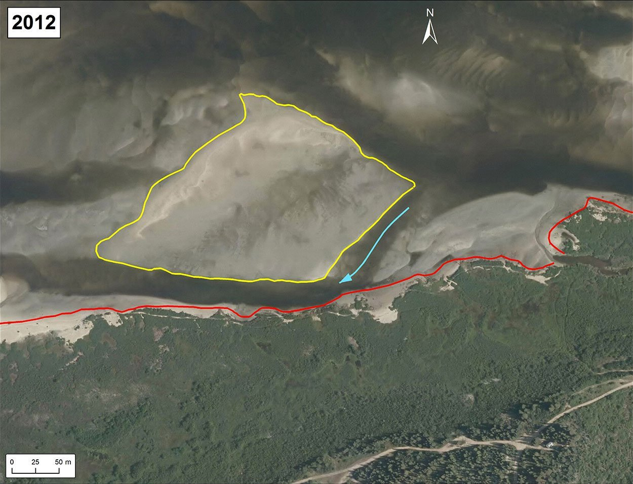Erosion Chisasibi banc de sable 2012